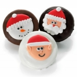Chocolate Covered Christmas Oreo Cookie Favors