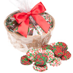 Holiday Holly Berry Oreo Christmas Cookie Basket