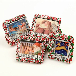 Christmas Stamp Design Chocolate Covered Grahams imagerjs