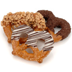Chocolate and Caramel Dipped Pretzel Favors