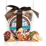 Thanksgiving Greetings Take Out Pail of Fortune Cookies