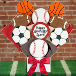 Happy Birthday Sport Gourmet Cookie Bouquet