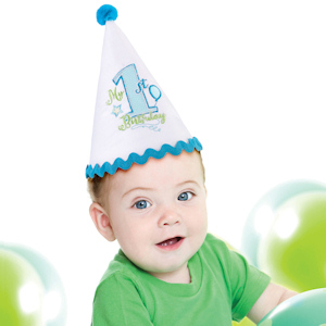 First Birthday Blue Party Hat imagerjs