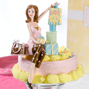 Mommy-to-Be Baby Shower Cake Topper imagerjs
