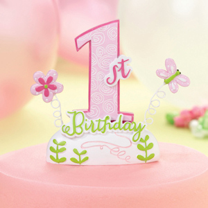 1st Pink Birthday Cake Top imagerjs
