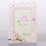 Pink Owl 4x 6 Baby Photo Frame