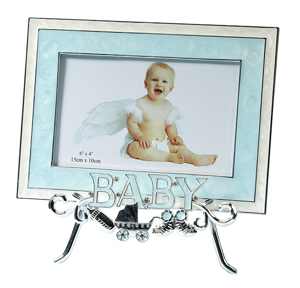 Blue Baby Frame with Stand imagerjs