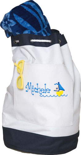 Personalized Beach Bag image