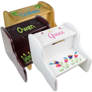 Personalized Fixed Step Stool (3 Colors) imagerjs