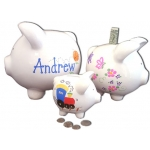 Personalized Ceramic Piggy Banks (3 Sizes)