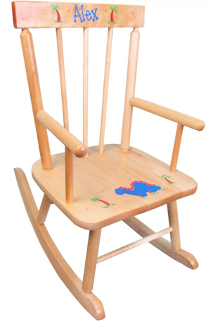 Personalized Rocking Chair (3 Wood Colors) imagerjs