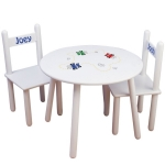 Kids Personalized Round Table and Chair Set