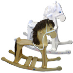 Personalized Kid's Rocking Horse (White or Natural)