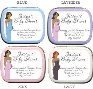 Filled African American Mommy - Personalized Shower Tins imagerjs