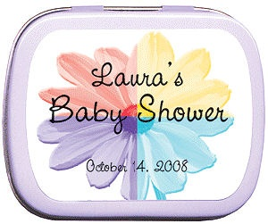 Filled Rainbow Daisy Baby Shower Tins imagerjs