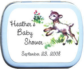 Filled Little Lamb Baby Shower Tin imagerjs