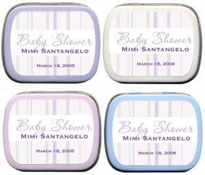 Filled Pastel Striped Baby Shower Tin imagerjs
