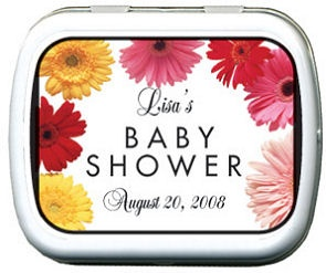 Filled Gerbera Daisy Tins For Baby Showers imagerjs