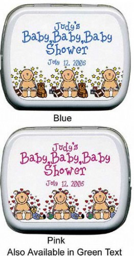 Filled Baby - Baby - Baby Triplets Shower Mint Tins imagerjs