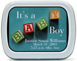 Filled It's A Baby Boy Mint Tins imagerjs