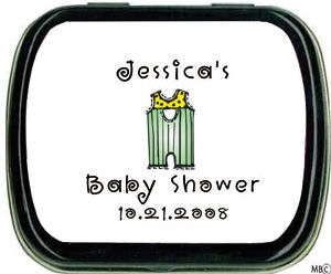 Filled Li'l Overalls Baby Shower Personalized Tins imagerjs