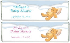 Resting Teddy Bar Baby Shower Bar image