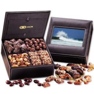 Faux Leather Photo Frame Keepsake Snack Box imagerjs
