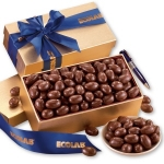 Chocolate Almonds in Gold Gift Box