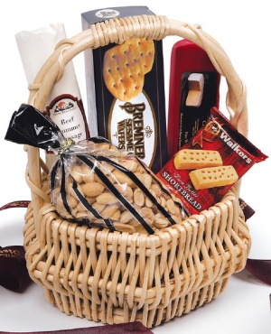 Festive Party Basket with Custom Ribbon imagerjs