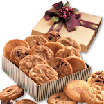 Gourmet Cookie Assortment - Gold Stripe Gift Box