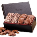 Chocolate Duo in Faux Leather Gift Box