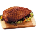 Boneless Smoked Turkey Breast with Cutting Board