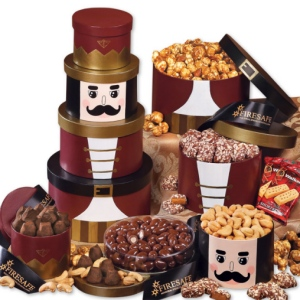 Majestic Nutcracker Treat Tower with Logo Ribbon imagerjs