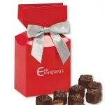 Red Premium Delights Logo Gift Boxes