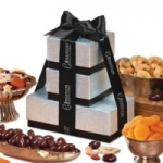 Silver & Black Savory Delight Logo Tower