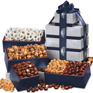 Silver & Navy Corporate Tower of Sweet Treats imagerjs