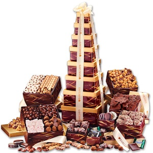 Giant Epicurean Food Gift Tower with Logo imagerjs