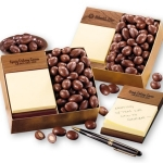 Walnut Wood Post-It Note Holder with Nuts