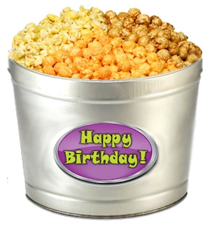 Happy Birthday Popcorn Tin image