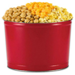 Festive Red Christmas Popcorn Tin