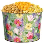Pretty Flowers Popcorn Tin