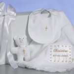 Personalized Christening Keepsake Blanket Set