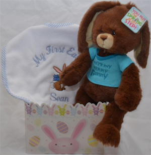 Personalized 'Hoppy Easter Bunny' Gift Set (Pink or Blue) imagerjs