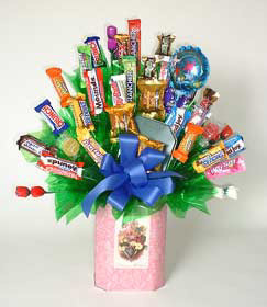 Thanks Mom Candy Bouquet image