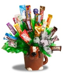 Ceramic Dog Candy Bouquet image