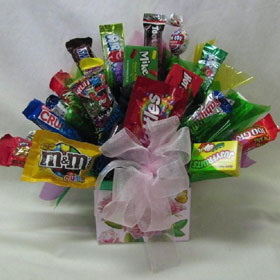 Sweetheart Rose Box Candy Gift Bouquet image
