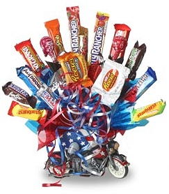 Motorcycle Candy Bouquet image