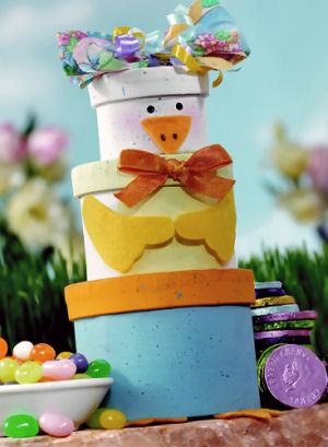 Ducky Delight Easter Gift Tower image