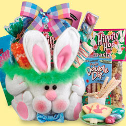 Plush Bunny Easter Basket image