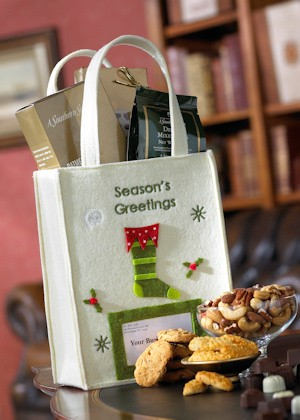 Personalized Holiday Gourmet Gift Tote imagerjs